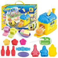 海绵宝宝玩具3D打印泥儿童手工彩泥橡皮泥玩具蟹堡王模具套装