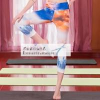 201804150813089紧身瑜伽裤 女 修身显瘦运动健身裤 个性3D印花瑜伽服 夏季七分裤 花色