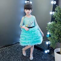 女童公主裙蓬蓬裙 儿童礼服花童生日钢琴演出服走秀小主持人晚礼服 绿 色