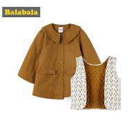 巴拉巴拉女童外套秋装2018新款上衣儿童小童宝宝风衣时尚两件套厚