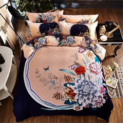 纯棉磨毛床上用品四件套1.8m全棉加厚床单被套1.5米双人2.0秋冬季
