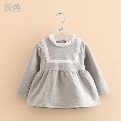 宝宝学院风连衣裙 秋冬装韩女童童装儿童抓绒裙子 发货周期:一般在付款后2-90天左右发货,具体发货时间请以与客服协商的时间为准
