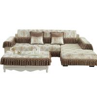四季欧式布艺沙发垫简约现代坐垫盖花边款皮沙发套罩