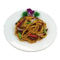 仿真意面咖啡厅简餐食物道具黑椒牛柳意大利面模型