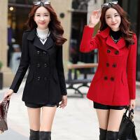 2016秋冬新款韩版时尚显瘦毛呢外套女短款冬装修身矮个子呢子大衣