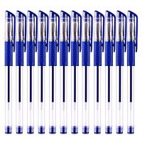 金优 欧标中性笔0.5mm(蓝色12支装)JY-990好写不断墨大中小学生练习考试作业用财务签字笔签字水笔 当当自营