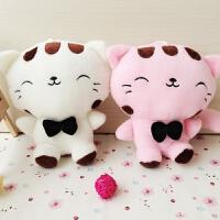 婚庆娃娃毛绒玩具大脸猫小公仔布艺玩偶猫咪公司活动礼品儿童礼物