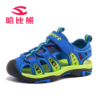 哈比熊童鞋凉鞋男童鞋2017年夏款韩版新款儿童中大童女童沙滩鞋潮AU331H5