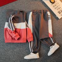 男童秋装套装洋气运动帅气潮卫衣两件套