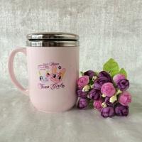 马克杯带盖勺办公室水杯304不锈钢创意儿童茶杯咖啡杯情侣杯子