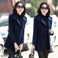 女装春秋季新款毛呢外套大码30-40岁短款呢子风衣韩版大衣外出服
