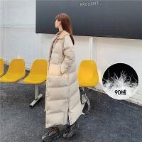 七格格羽绒服韩版女宽松2019新款冬季中长款白鸭绒修身时尚外套潮