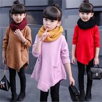 女童套头毛衣外套长款女宝宝针织打底衫女宝羊毛衫新款秋季潮