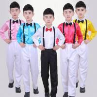 男孩六一儿童背带裤演出服男童小主持人服装表演服幼儿园合唱服