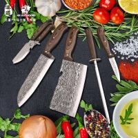 汉道大马士革钢厨房刀具套装五件套菜刀套装刀具套装厨房套刀*