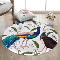 中国风圆形地毯中式艺术地毯客厅 卧室房间吊篮毯电脑椅垫