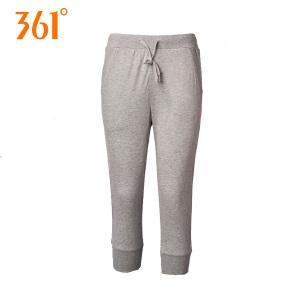 361度运动裤女款针织七分裤2018秋女装女士透气休闲裤跑步短裤