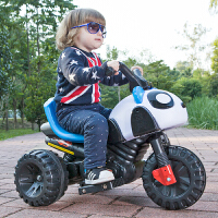 儿童电动车摩托车小孩宝宝电瓶车可坐可骑可充电玩具车三轮