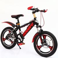 儿童自行车男孩单车4-6-8-9-3岁小学生赛车68山地车一体轮 中国红+辅助轮 +礼包