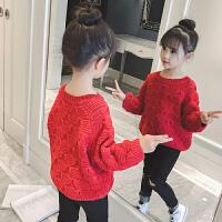 儿童毛衣2018新款冬季中大童打底衫宝宝韩版洋气针织衫女孩