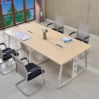 办公家具简易板式会议桌椅子组合长方形8/12人员工培训桌