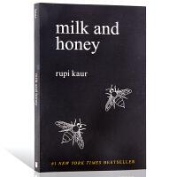 牛奶与蜂蜜 英文原版 Milk and Honey 自传体诗集 心灵治愈书籍 作者手绘插图 露比考尔 纽约时报畅销书 诗