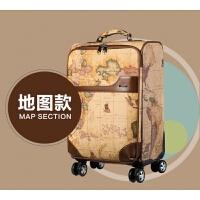 拉杆箱 子母复古拉杆箱包 旅行箱学生行李箱 地图 男女箱包 地图款 20寸单只拉杆箱(可登机)