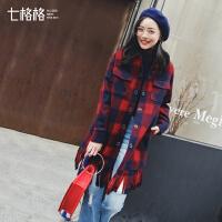 中长款外套女秋冬装季夹克韩版学生bf原宿2017新款百搭港味大衣潮