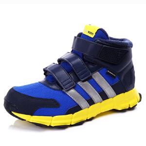 阿迪达斯(adidas)童鞋冬季新款小童男款儿童魔术贴保暖运动短靴 BB3121 蓝色