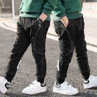 童装男童牛仔裤秋冬装儿童裤子冬季洋气修身长裤