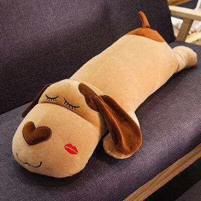 趴趴狗男朋友长抱枕靠枕床头靠垫大靠背可爱睡觉枕头大号可爱床上   羽绒棉填充,可拆洗,柔软舒适