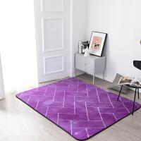法莱绒加厚地毯客厅茶几地毯卧室满铺地毯床边毯榻榻米地垫可定制