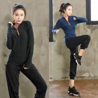 大码秋冬运动套装女装200斤健身房跑步宽松晨跑速干衣瑜伽服XE