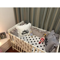 婴儿床品套件纯棉婴儿圆床床围床笠秋冬婴儿床帏宝宝床品可拆洗