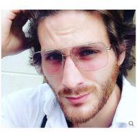 新款男女眼镜旅游装饰眼镜 欧美大框太阳镜方形墨镜 户外透明太阳镜