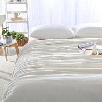 家纺加厚金貂绒毛毯女神白色法莱绒毯单双人午睡盖毯法兰绒珊瑚绒毯子 乳白色 380g/每平方 230x270cm 约4.