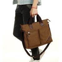 男士背包单肩包户外斜挎包商务手提公文包学生包包休闲男包帆布包