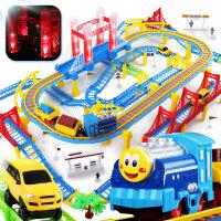 小火车套装儿童玩具男孩宝宝3-4-6岁7小孩轨道车电动充电