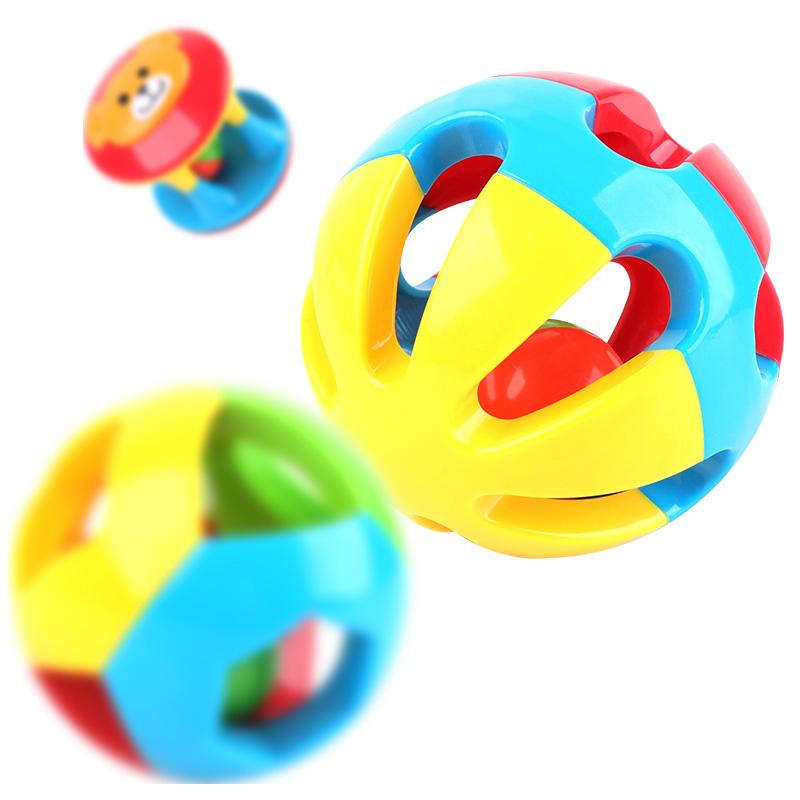 【【领券立减50元】米米智玩 婴儿儿童玩具0-1岁儿童益智五彩感官球铃铛球手抓球6-12个月宝宝玩具三件装活动专属 儿童早教益智玩具大促