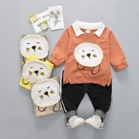 男童长袖t恤套装男宝宝春装卫衣两件套童装春季婴儿衣服