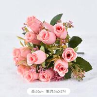 仿真牡丹花玫瑰花束假花客厅家居摆设花瓶装饰花艺餐桌摆件