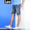 Lee男装2018新品破洞休闲牛仔修身短裤L246402HN4ML