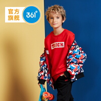 【9月27日2件4折价:79.6元 领券更优惠】361度男童装两面穿时尚棒球领2018冬季新品 K51743802