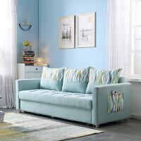 【品牌热卖】多功能沙发床可折叠小户型现代简约坐卧两用储物柜布艺沙发 6066B#(2.16米) 216cm/190cm