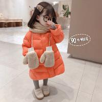 女童羽绒服宝宝秋冬轻薄中长款儿童外套冬装