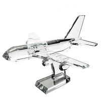 客厅工艺品摆件 现代简约送给男友水晶飞机模型摆件生日礼物创意新奇男生女友老公同学女生