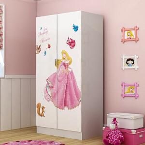 御目  衣柜 简约现代儿童2门卡通木质单人多层整理柜男女孩卧室简易储物柜收纳柜子成人板式经济型衣橱儿童家具