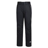 户外运动冲锋裤 男款两件套防泼水透气保暖登山裤天狼星滑雪裤 黑色 M