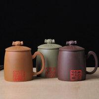 陶瓷故事 宜兴正宗原矿紫砂茶杯 高级匠师纯手工制作 绿泥礼盒装