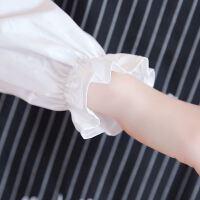 18版时尚潮女装修身显瘦条纹假两件连衣裙娃娃领长袖打底裙女